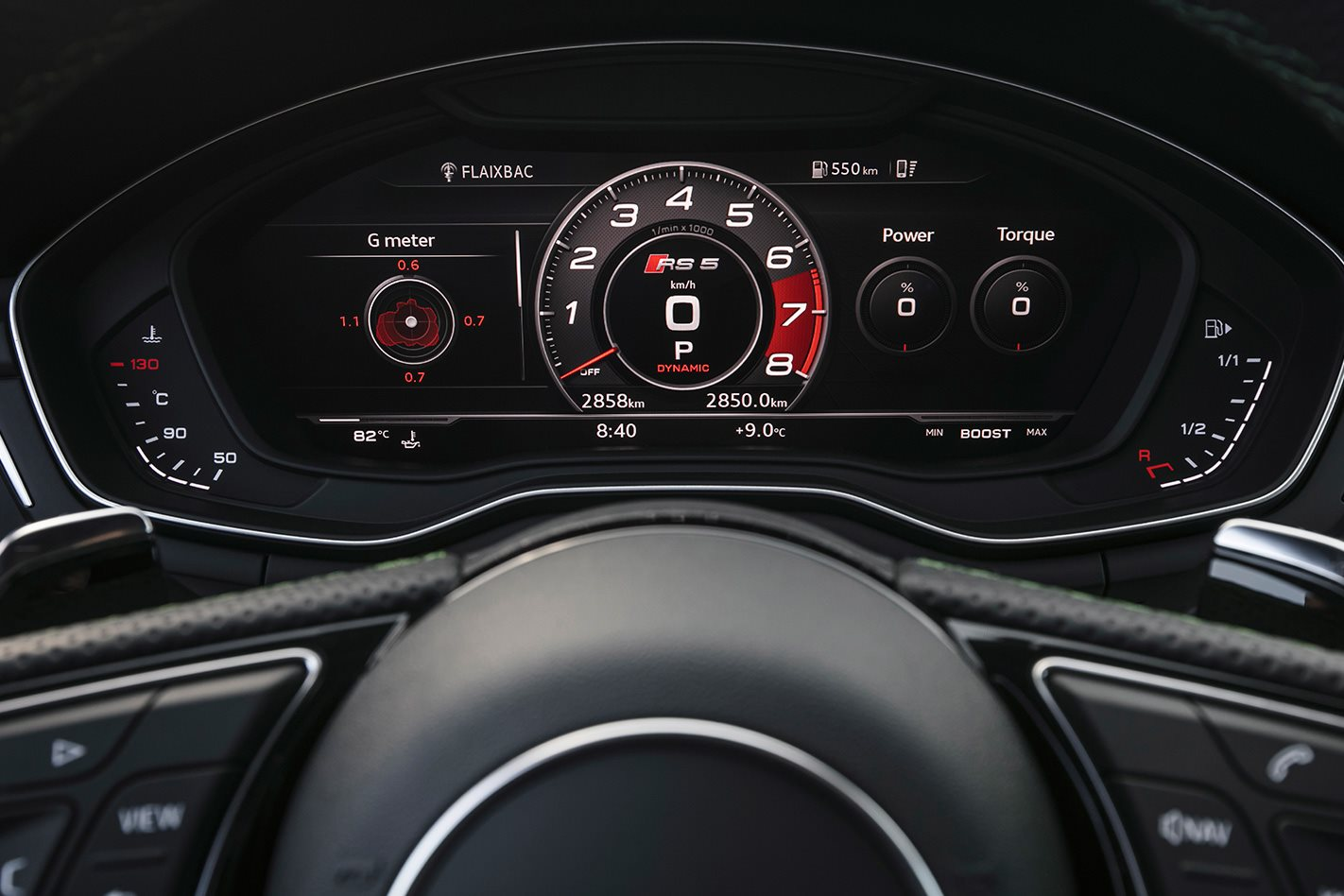 2017 Audi RS5 dashboard