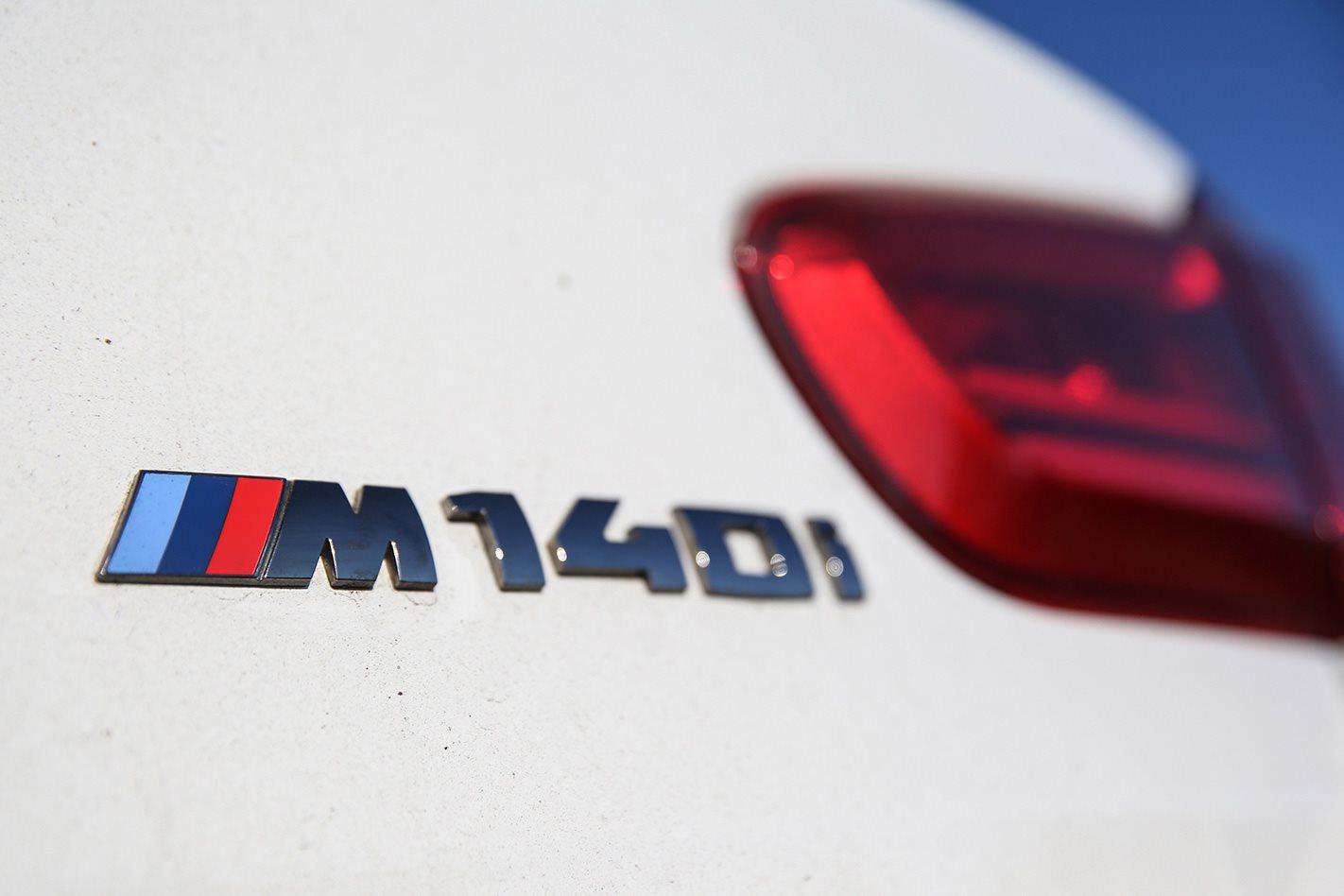 2017 BMW M140i PE badge