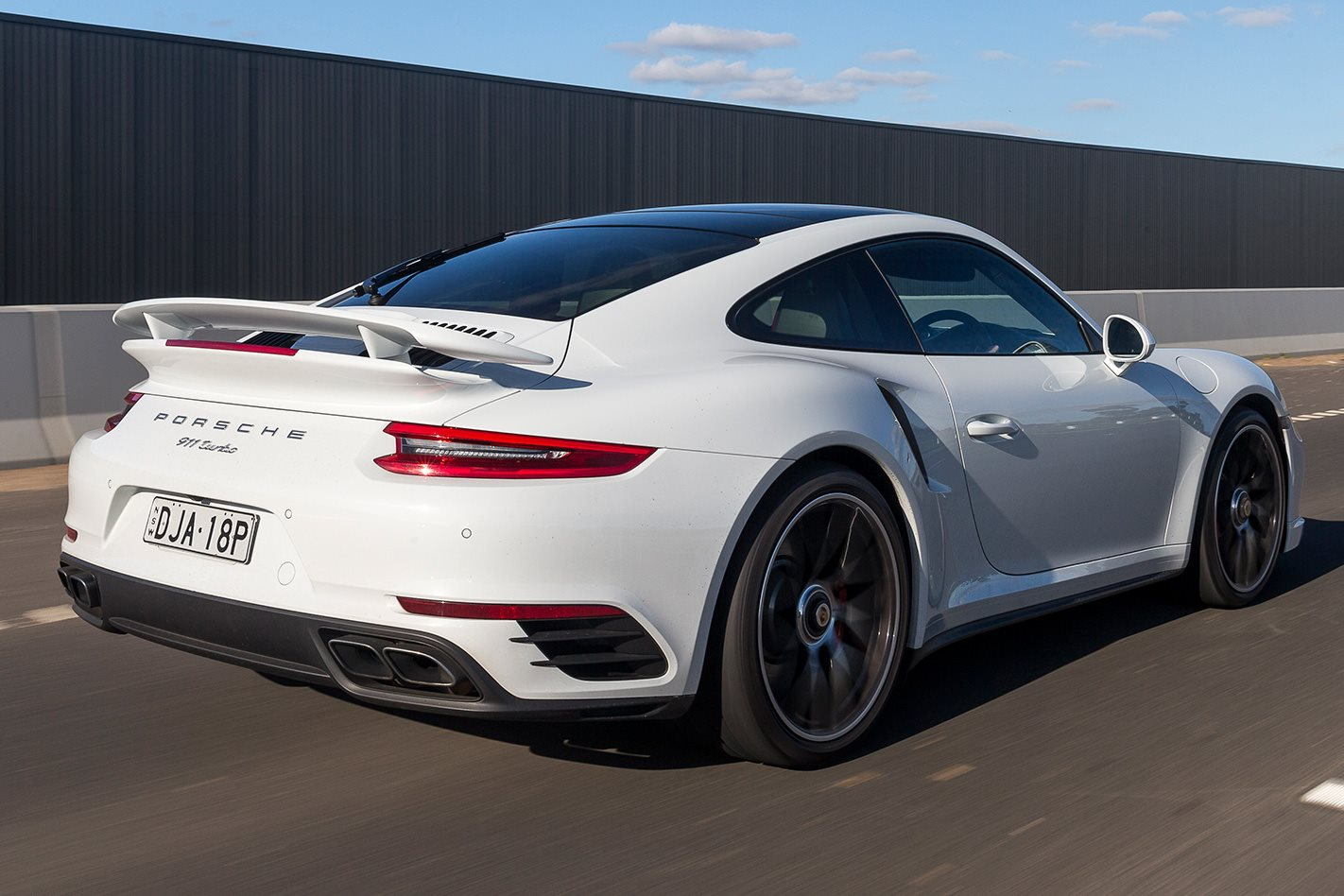 2017 Porsche 991.2 911 Turbo rear