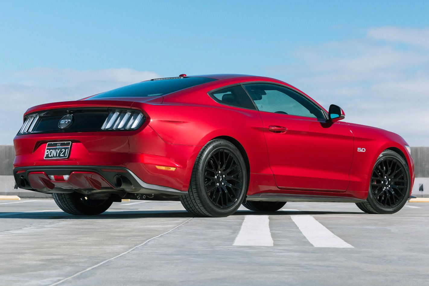 2017 Ford Mustang PP rear facing