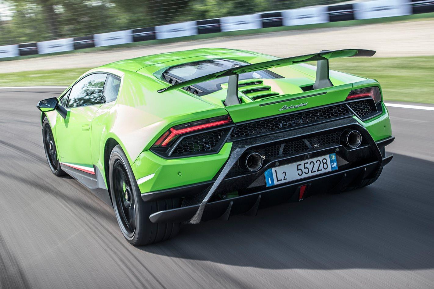 2017 Lamborghini Huracan Performante rear
