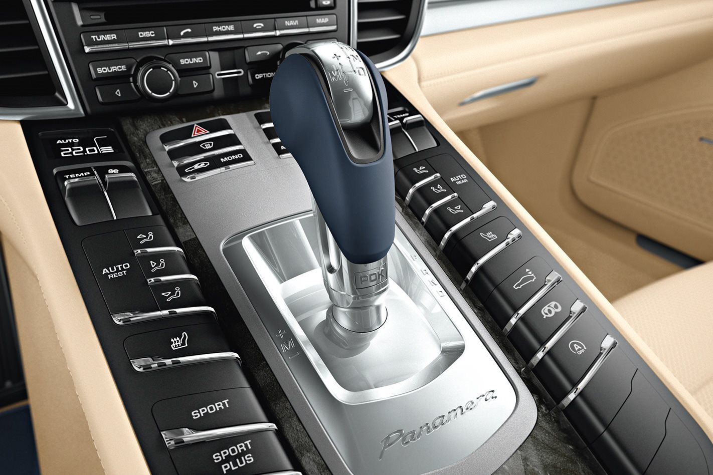 2010 Porsche Panamera Turbo gearstick