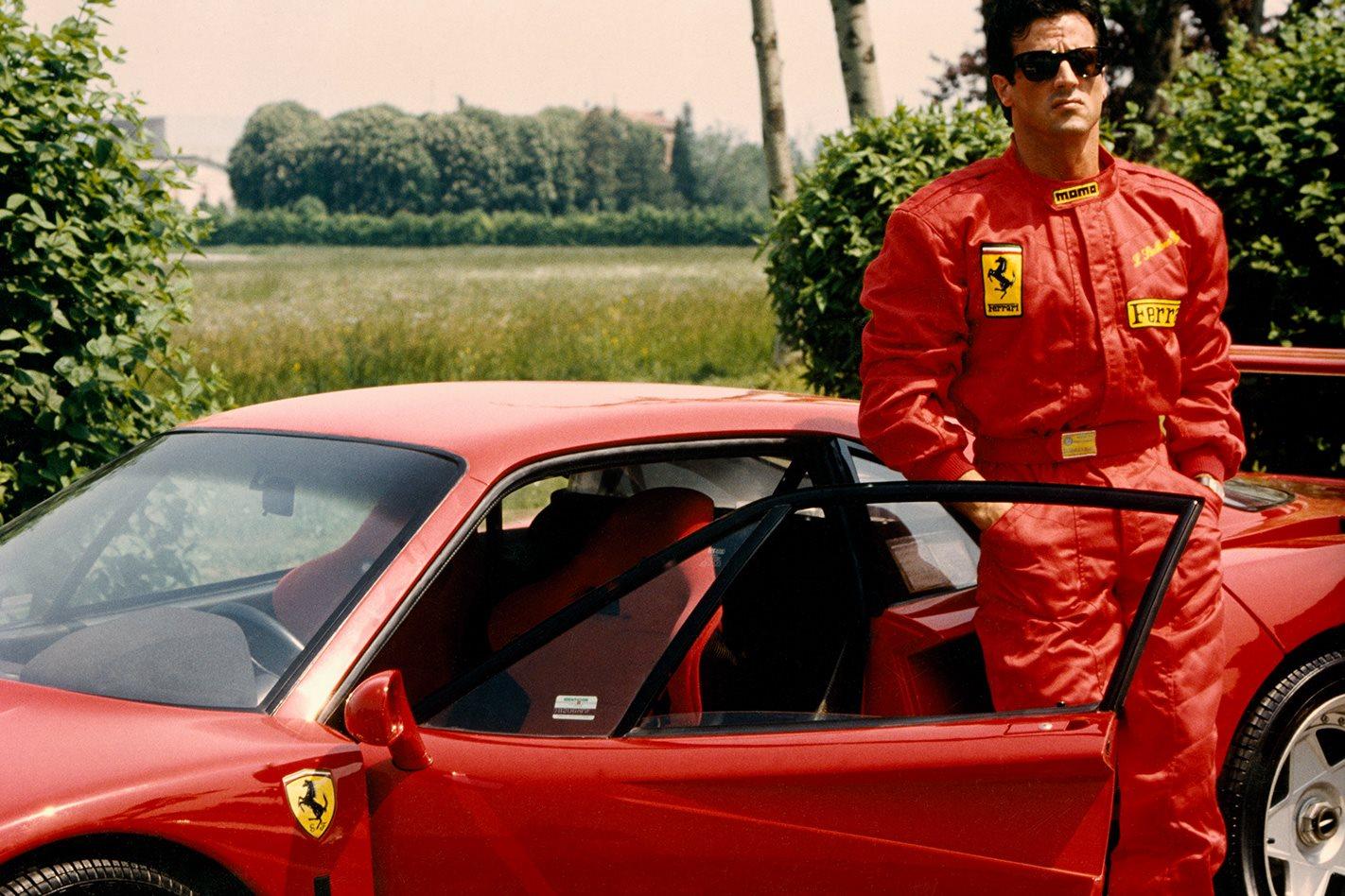 Sylvester Stallone at Fiorano 1990