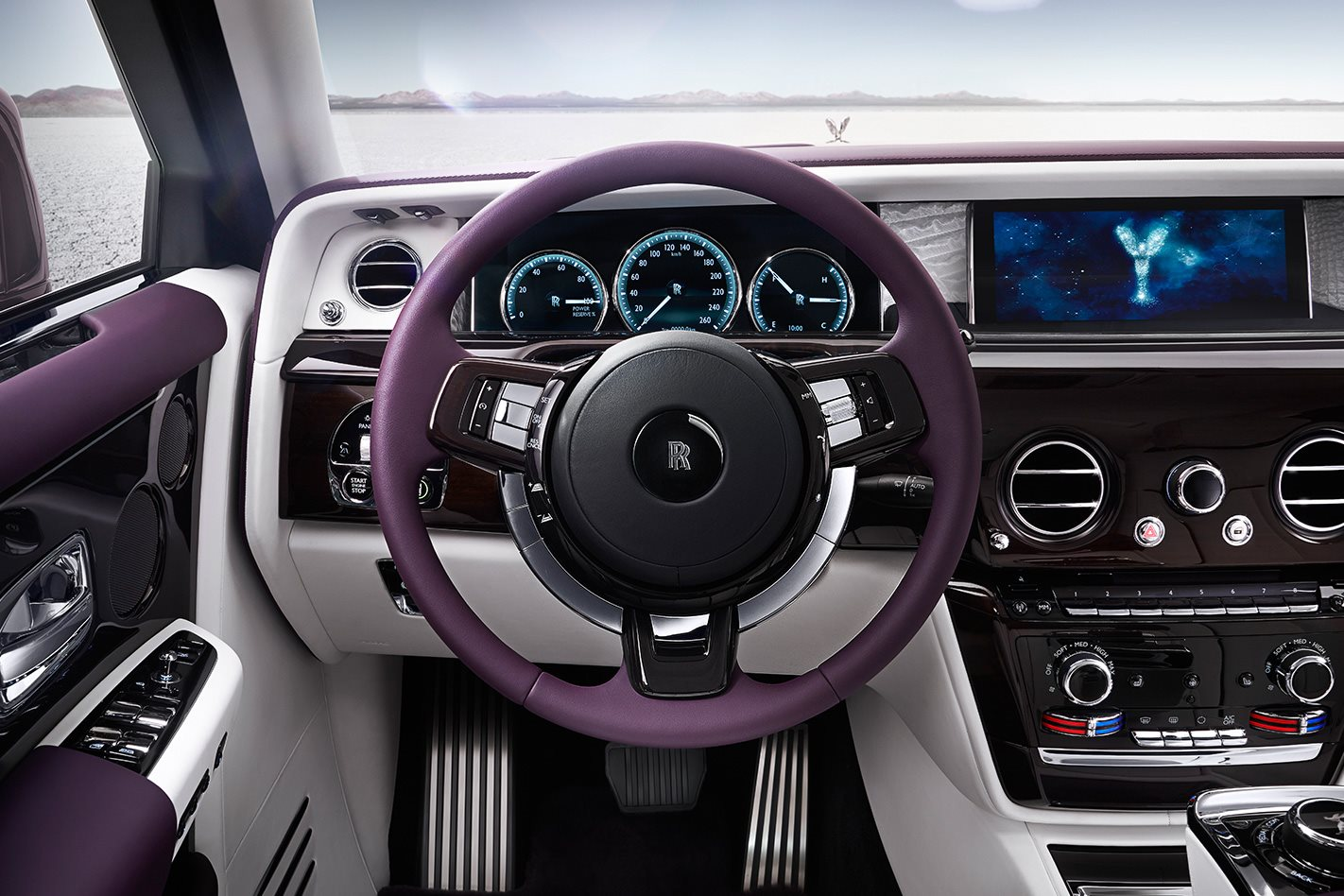 2018 Rolls Royce Phantom steering wheel
