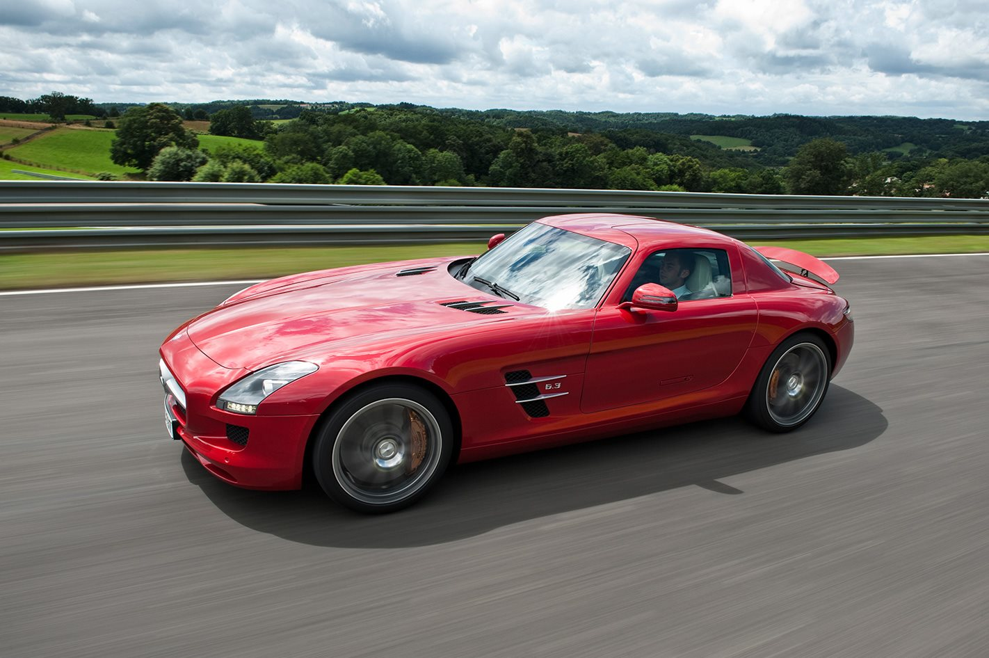 Mercedes-Benz SLS AMG on the road