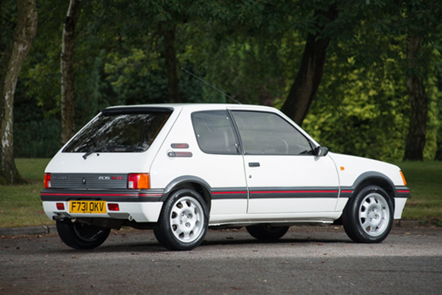 peugeot 205 gti 1 9 sells for 63 361. Black Bedroom Furniture Sets. Home Design Ideas