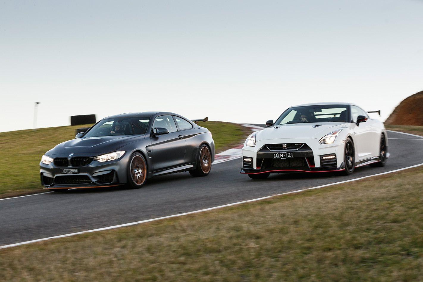 2017 Nissan GT-R NISMO vs 2017 BMW M4 GTS front.jpg