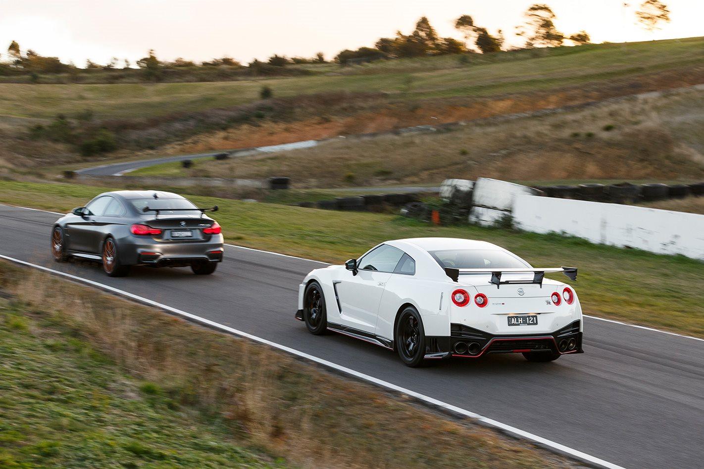 2017 Nissan GT-R NISMO vs 2017 BMW M4 GTS racetrack.jpg