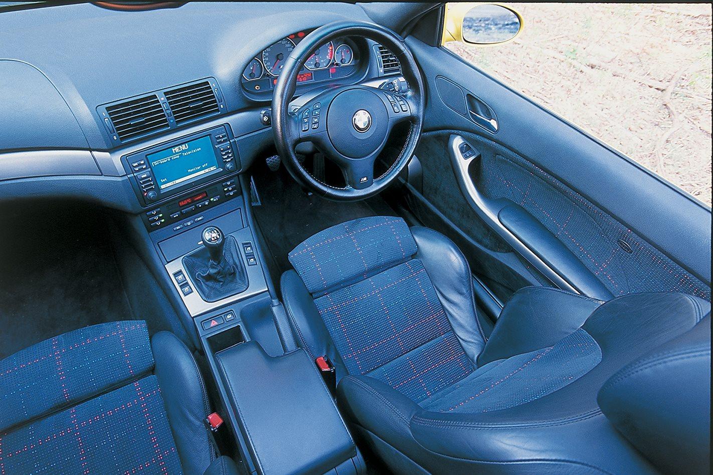 2003 BMW M3 interior