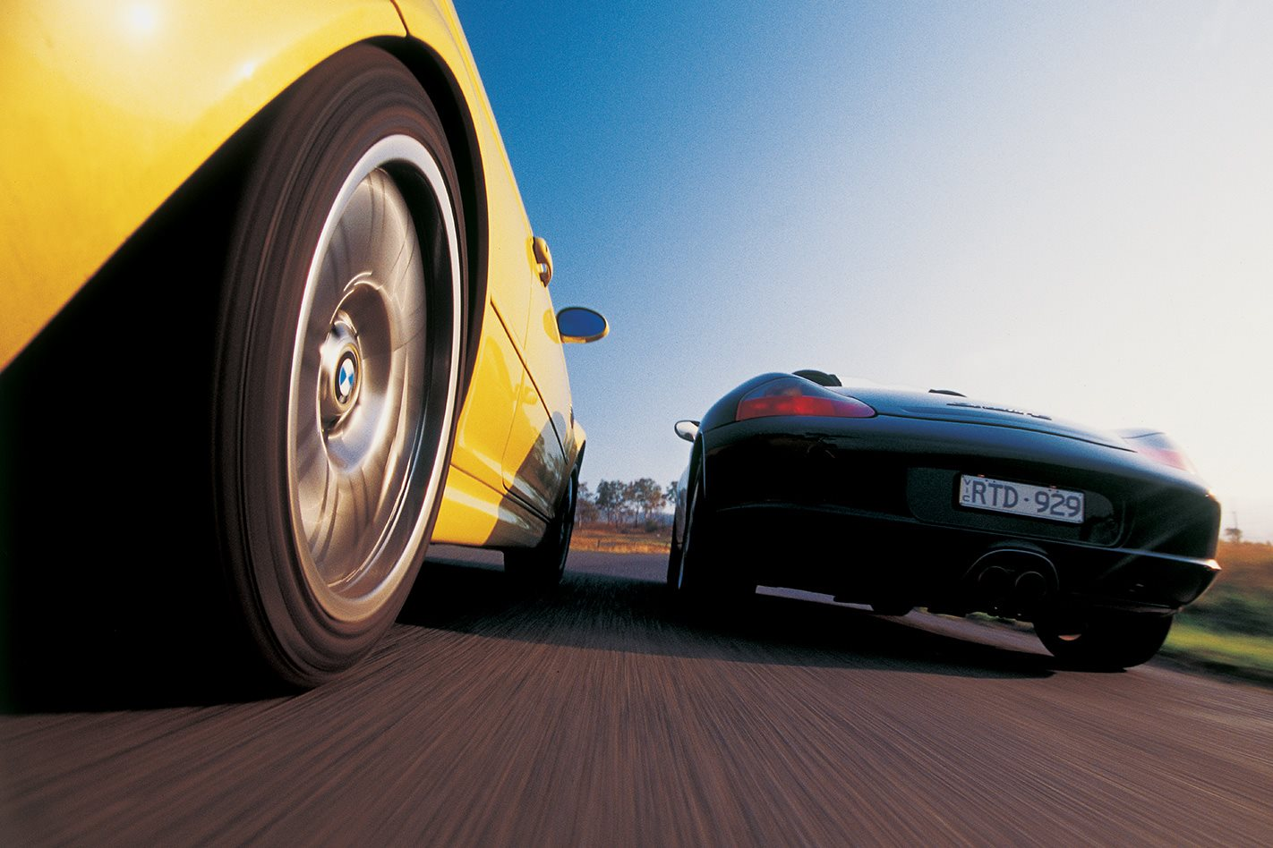 2003 BMW M3 vs 2003 Porsche Boxster S wheels