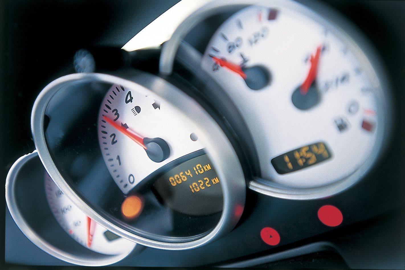 2003 Porsche Boxster S speedo