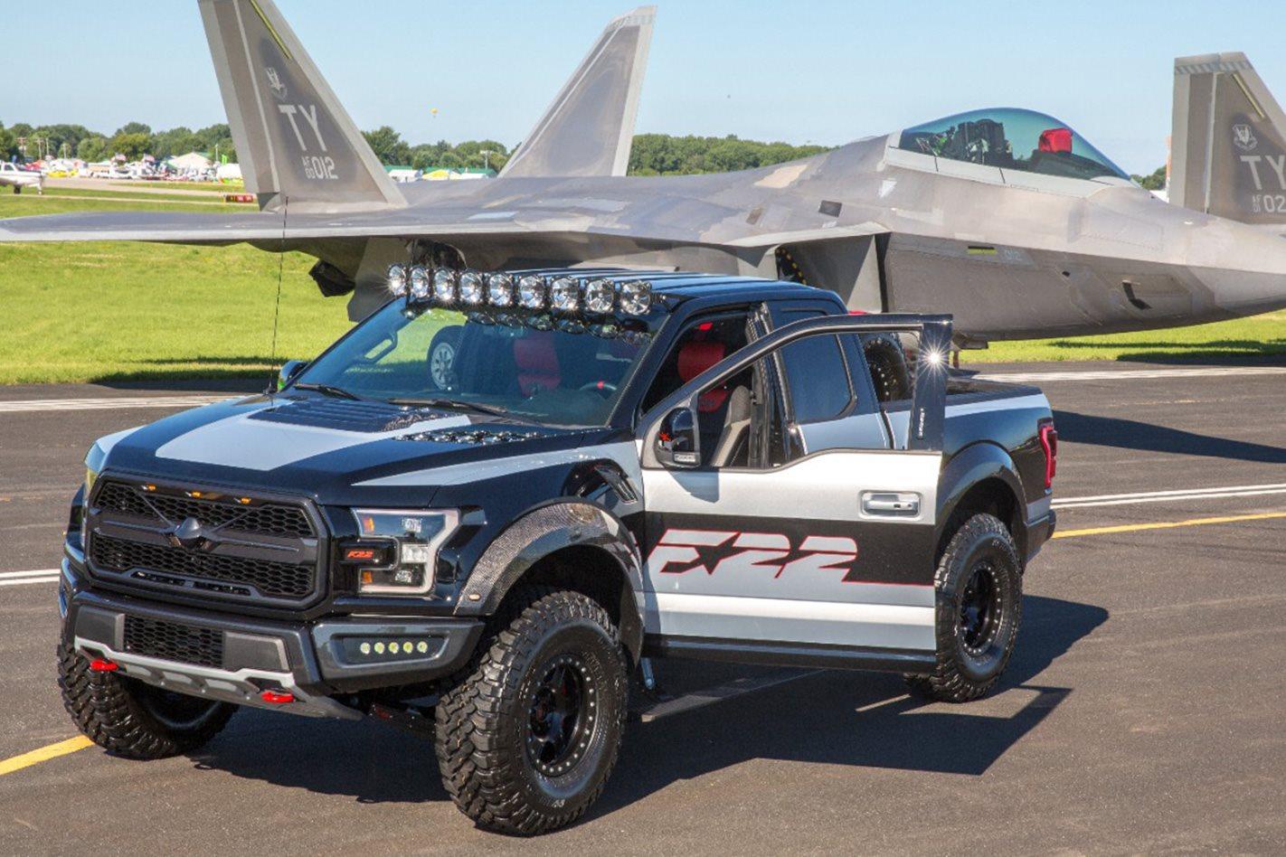 Custom Ford F150 Raptor inspired by Fighter Jet
