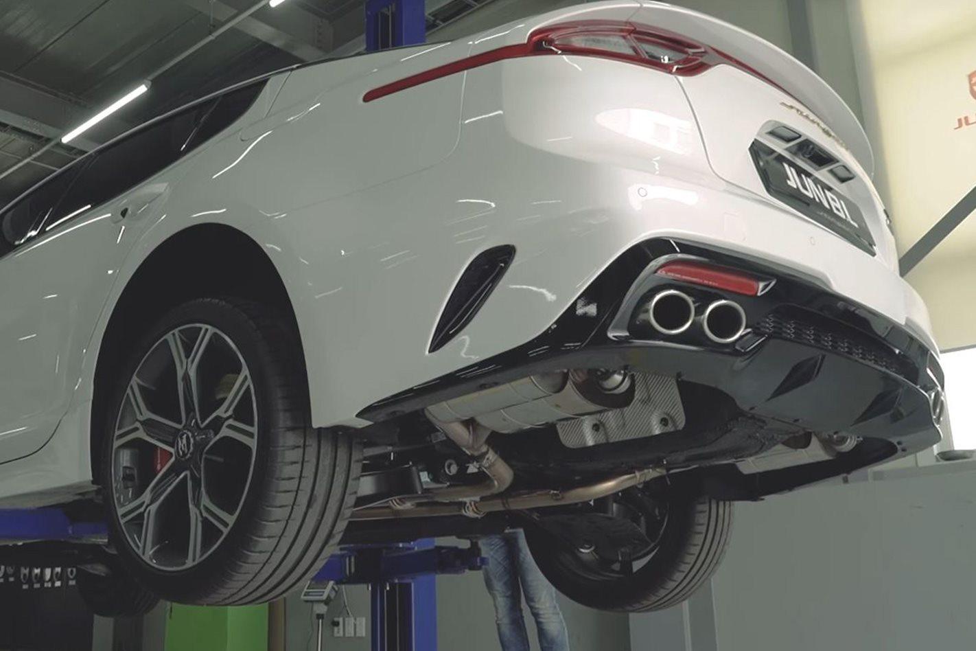 Kia Stinger GT at the mechanics