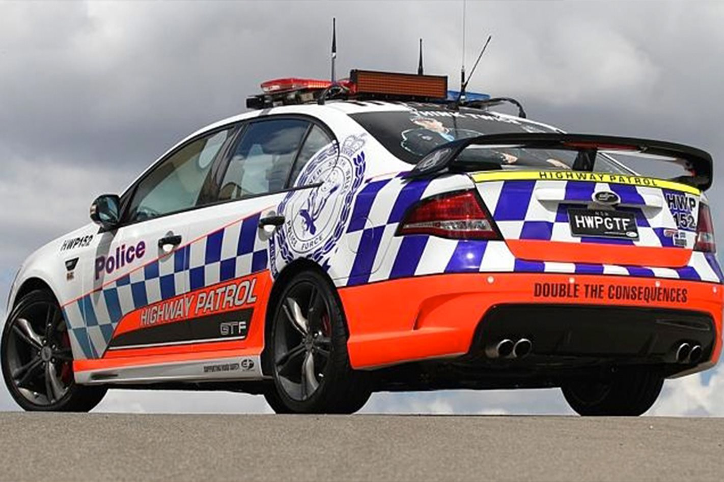 NSW Highway Patrol FPV GT F  rear