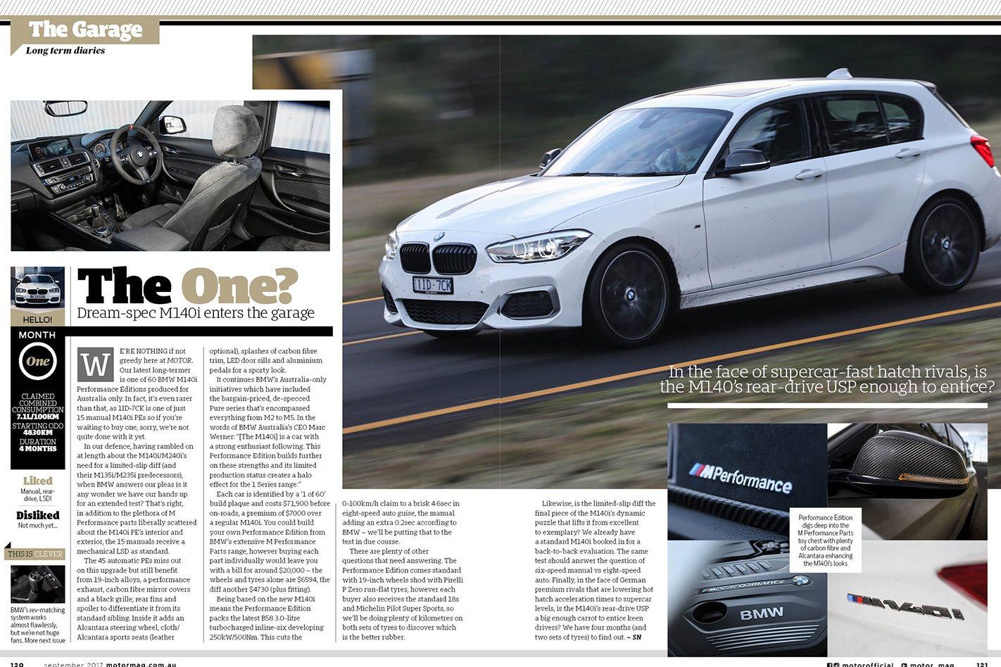 THE GARAGE   BMW M140i