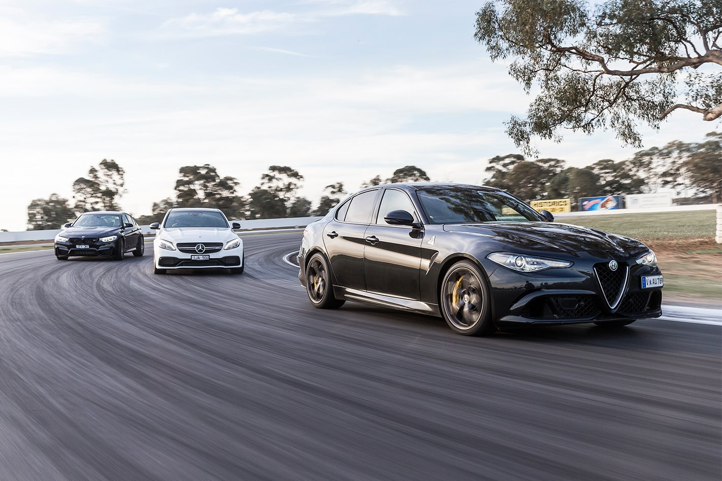 Alfa romeo giulia qv vs mercedes amg c63 s vs bmw m3 for Alfa romeo vs mercedes benz