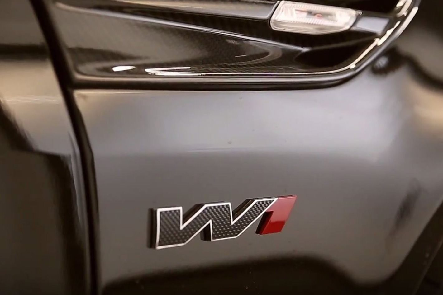 HSV GTSR W1 badge
