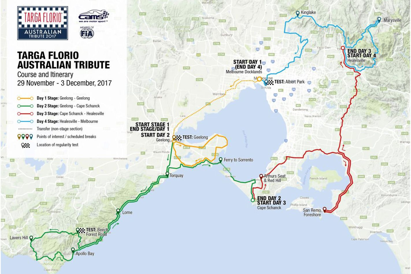 Targa Florio Map