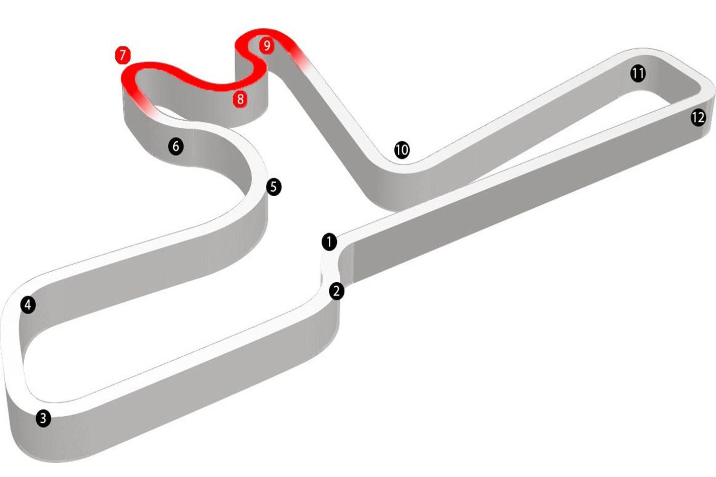 Winton Raceway map