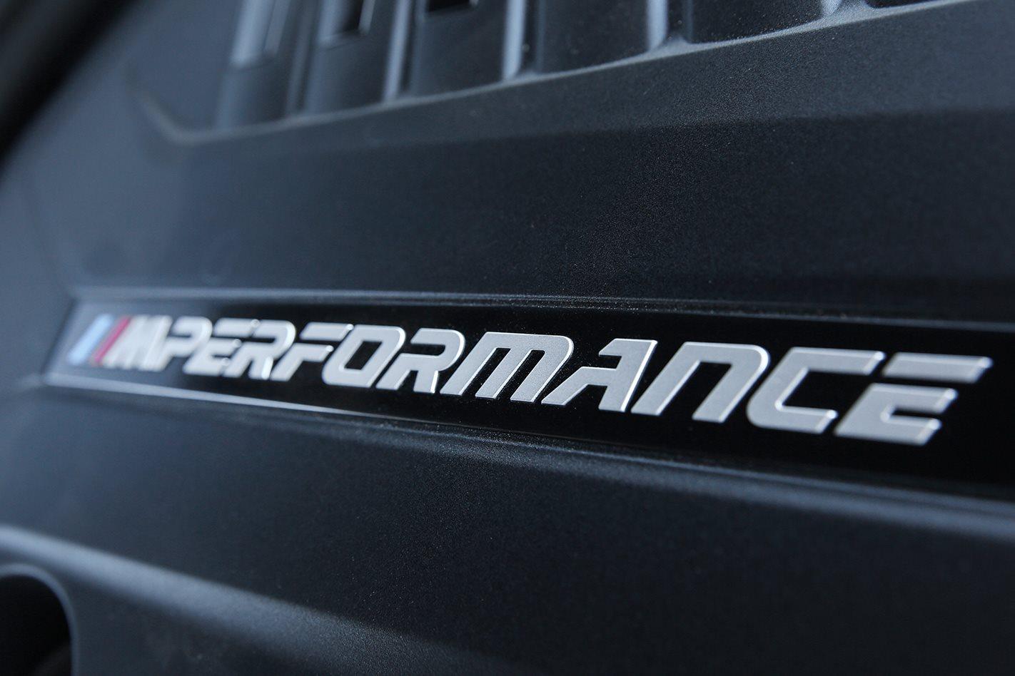 2017 BMW M140i M Performance badge