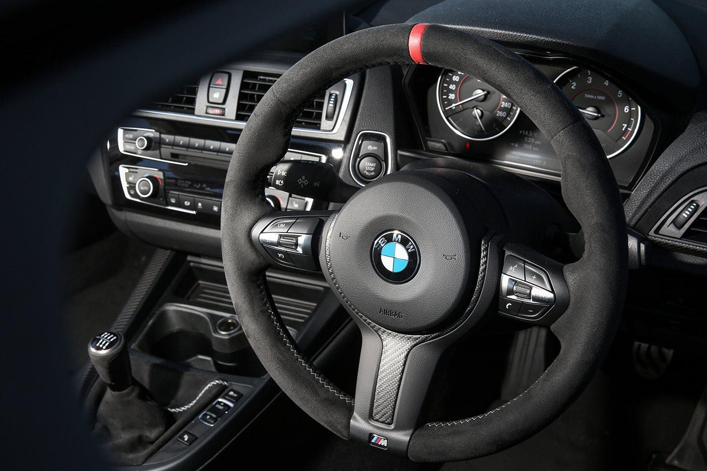2017 BMW M140i steering wheel
