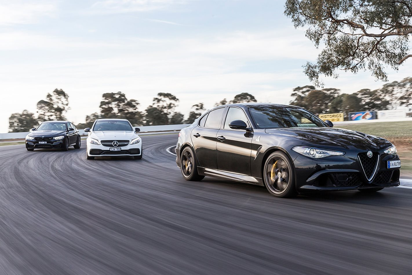 Alfa Giulia QV vs Mercedes AMG C63 vs BMW M3 Competition