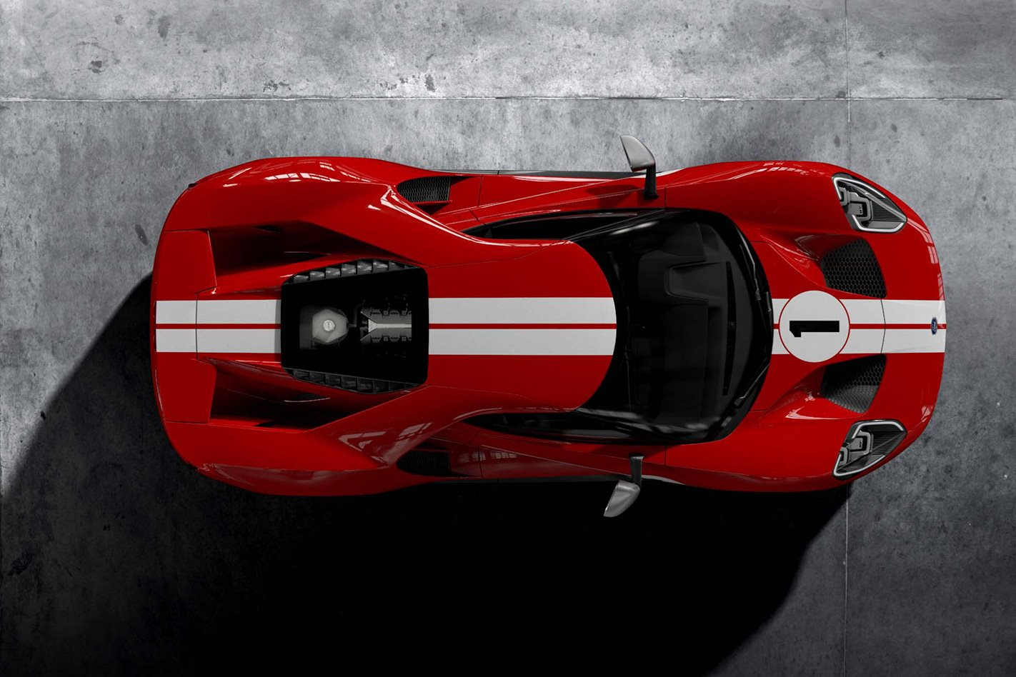 Le Mans edition Ford GT aerial