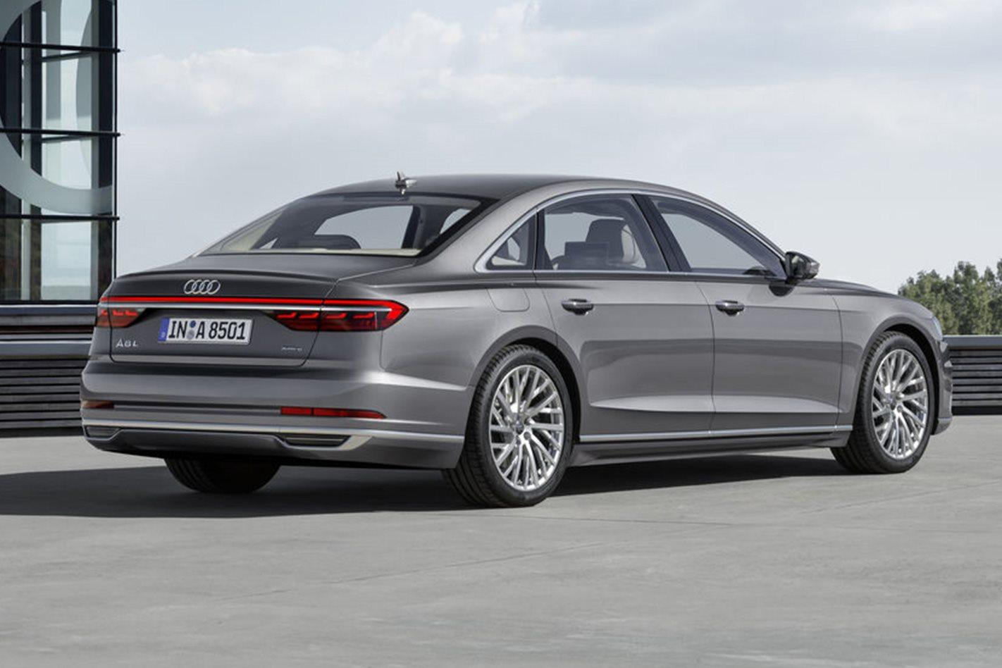 2018 Audi A8 rear