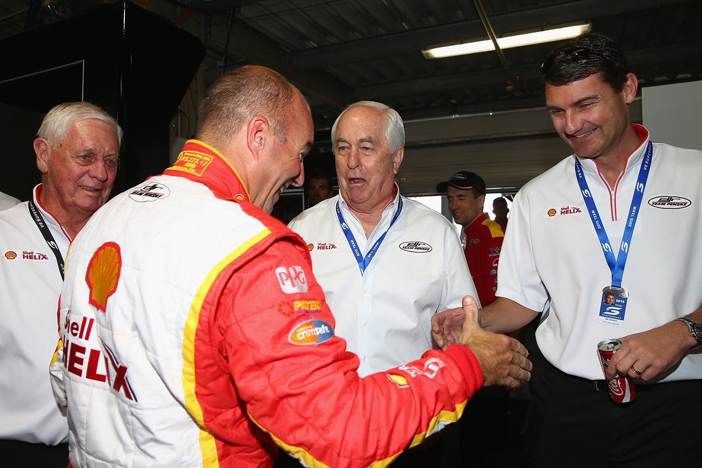 Roger Penske & NASCAR driver Marcos Ambrose