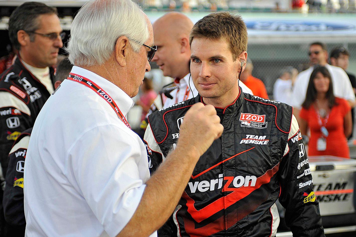 Roger Penske & NASCAR driver Will Power
