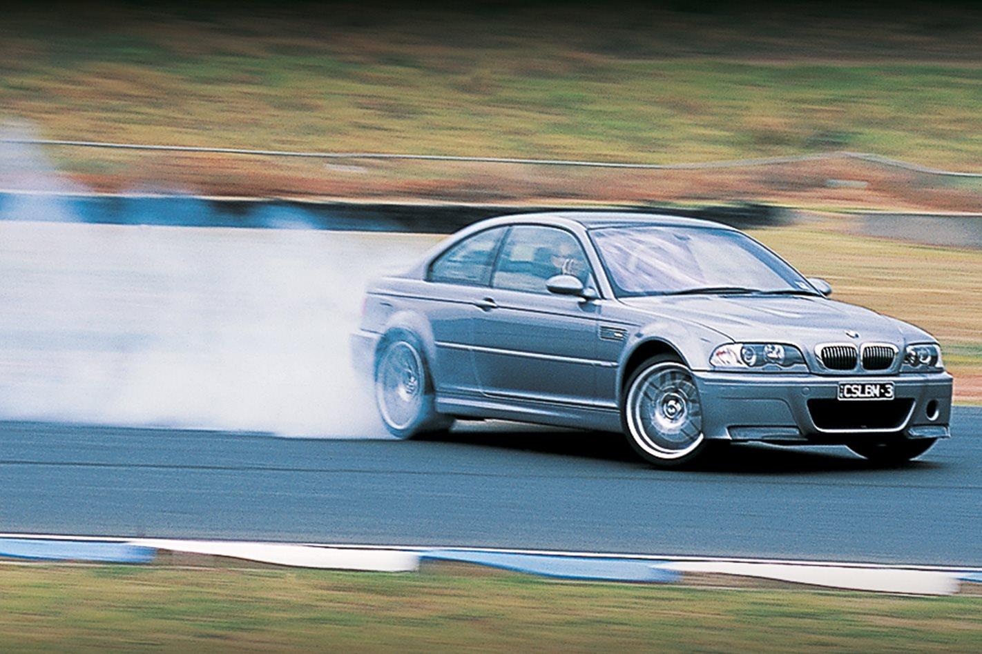 BMW M3 CSL v Porsche GT3 RS v Mitsubishi Evo VIII v Lotus