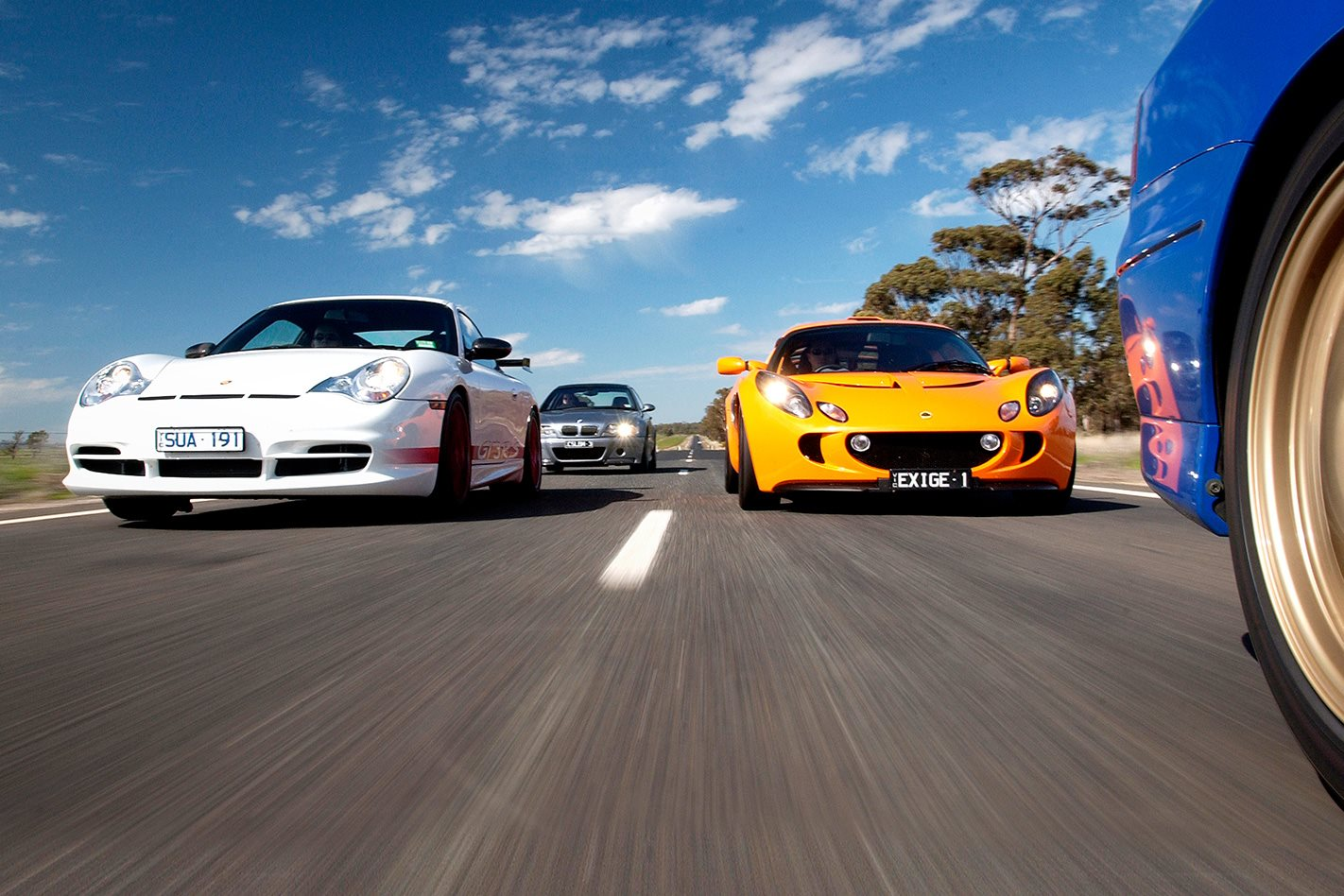 Porsche GT3 RS & Lotus Exige front
