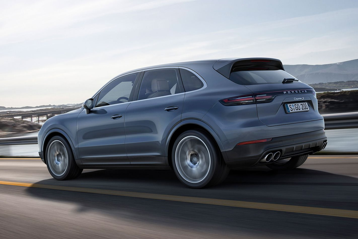 new 2018 porsche cayenne. wonderful 2018 2018 porsche cayenne rear for new porsche cayenne