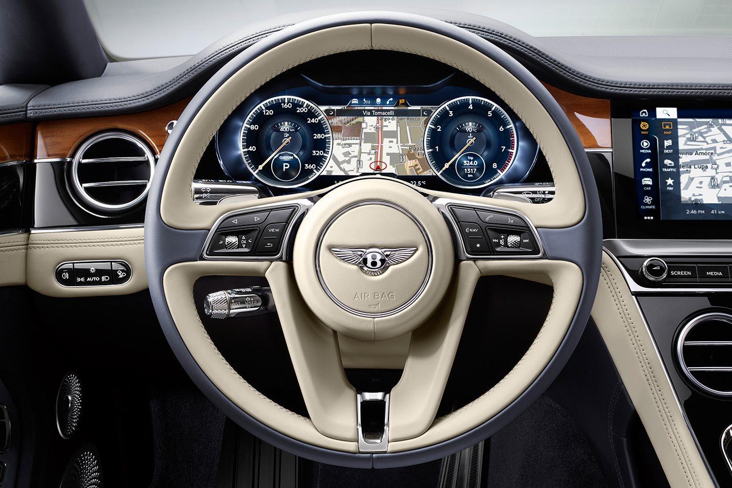 2018 Bentley Continental GT gauges