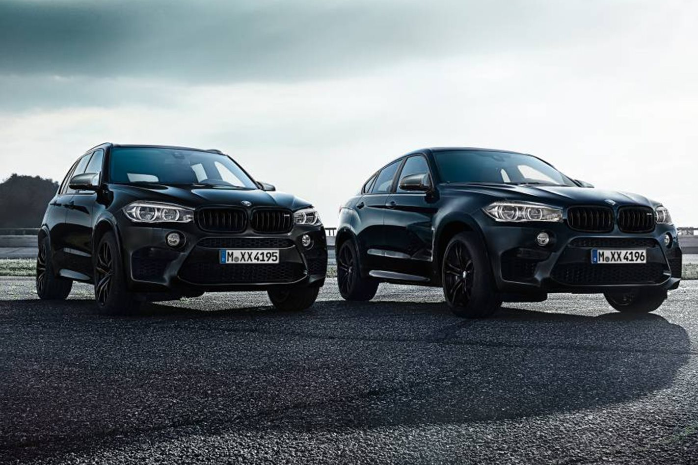 BMW X5 M and X6 M Black Fire Editions exterior