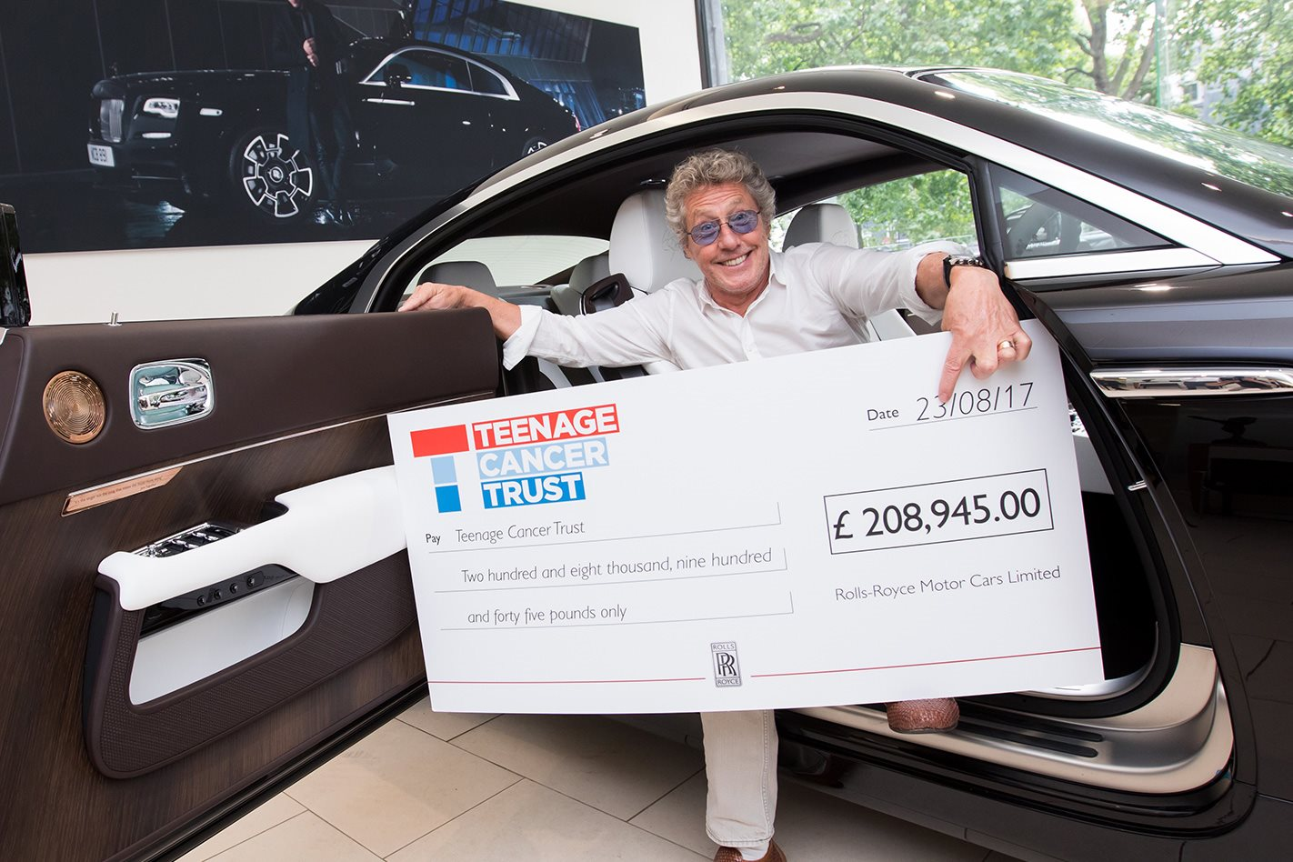The Who's Roger Daltrey in his Rolls Royce Wraith