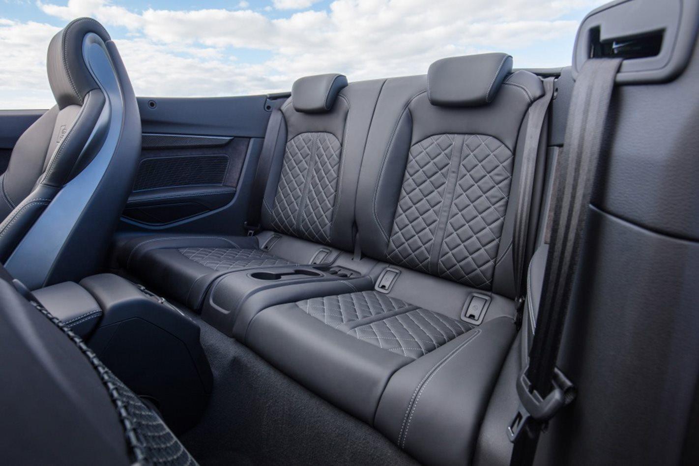 2017 Audi S5 Cabriolet rear seats