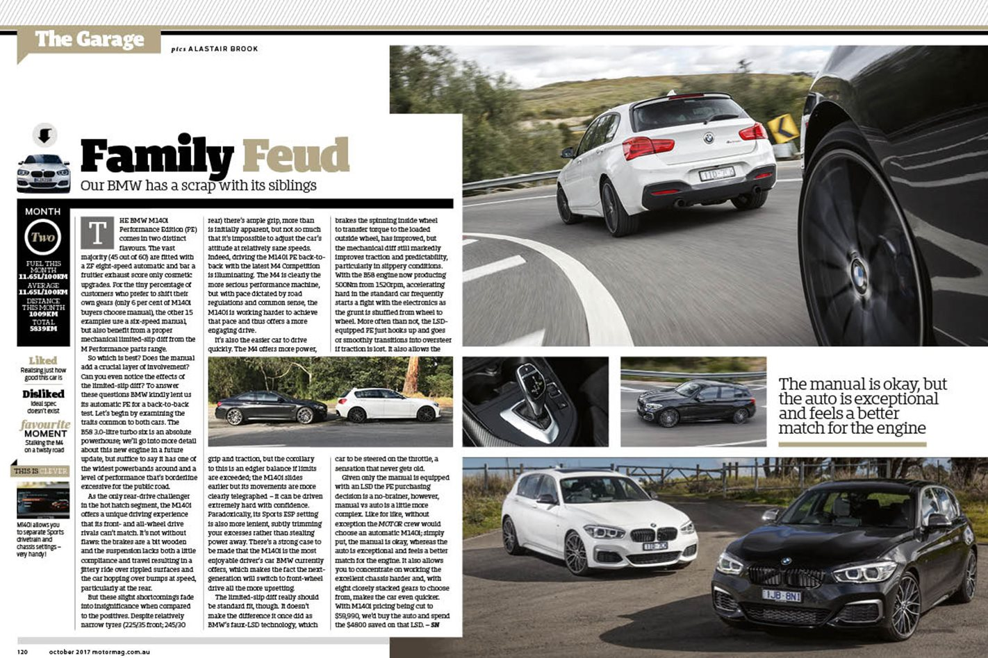 BMW m140i MOTOR October issue