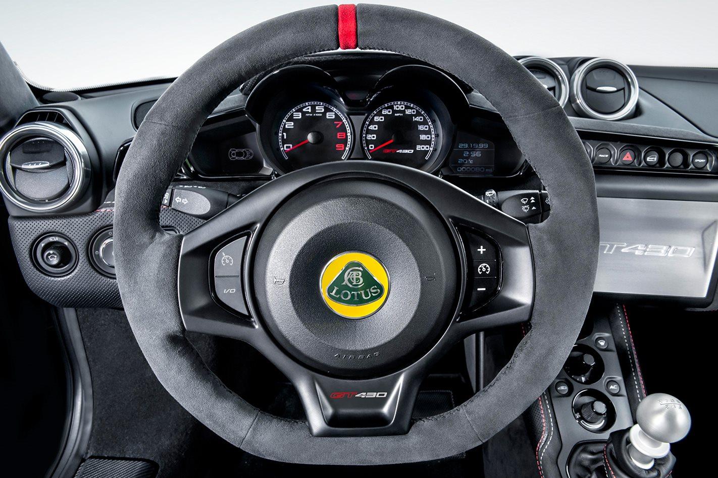 Lotus Evora GT430 Sport steering wheel