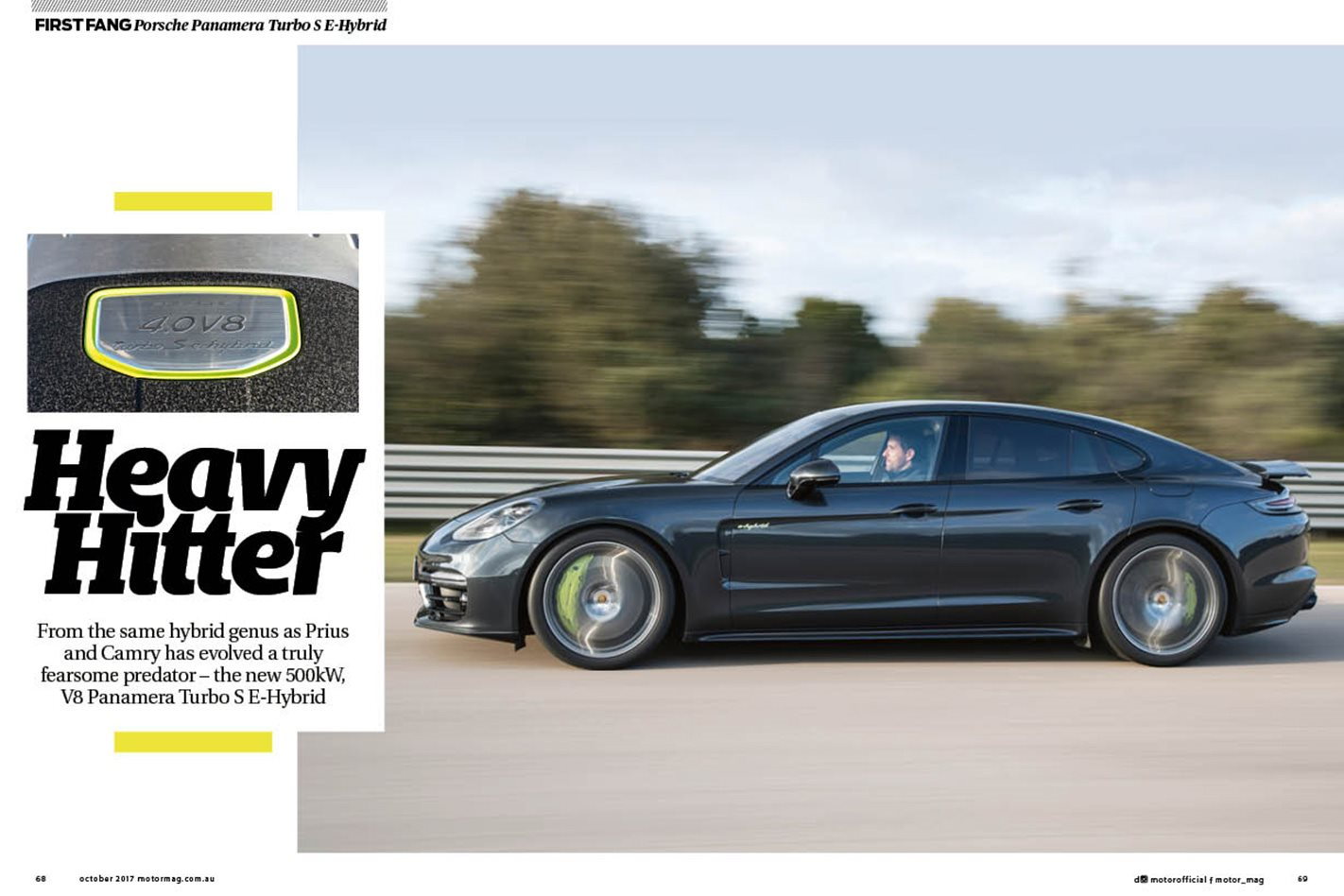 Porsche Panamera MOTOR October issue