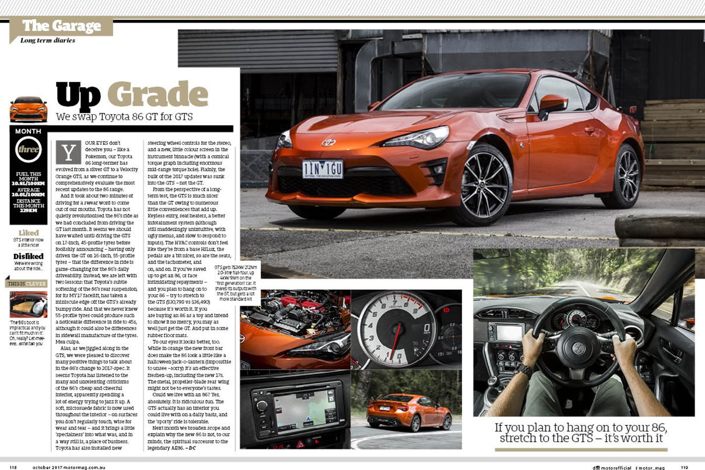 Toyota 86 MOTOR October issue