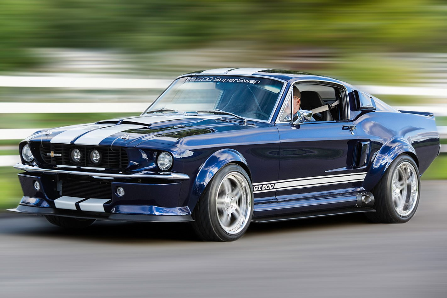 2012 ford shelby gt500 with a 1967 shelby gt500 body