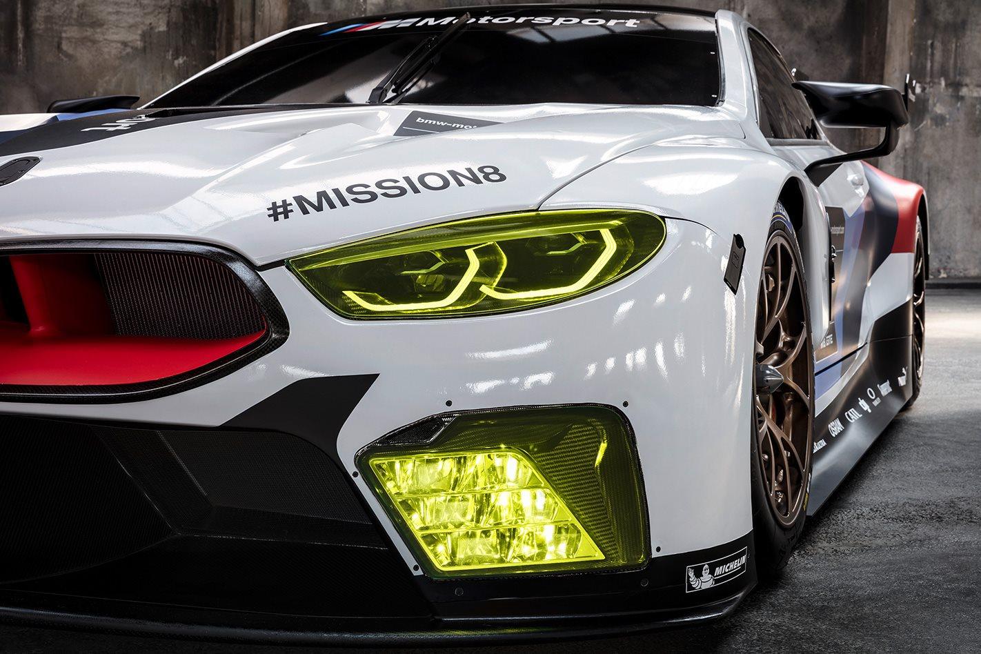 BMW M8 GTE headlights