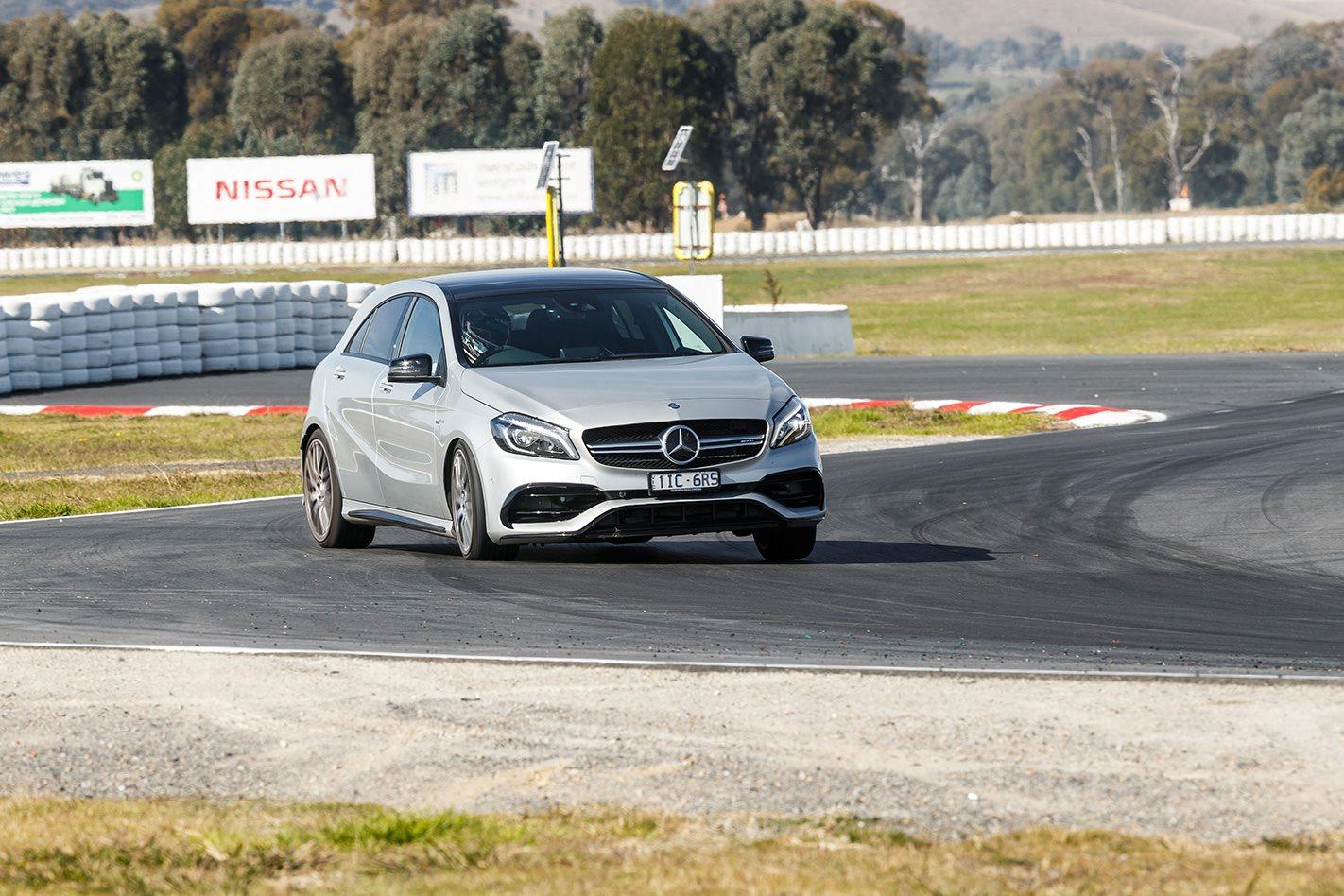 2017 Mercedes AMG A45 on the track.jpg