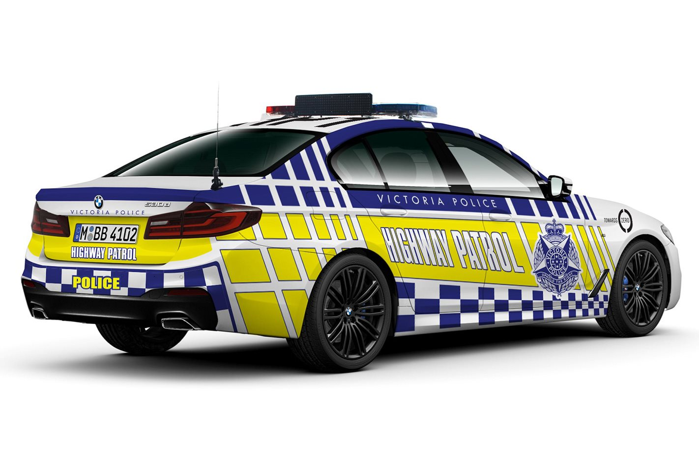 Victoria Police BMW 5 Series rear