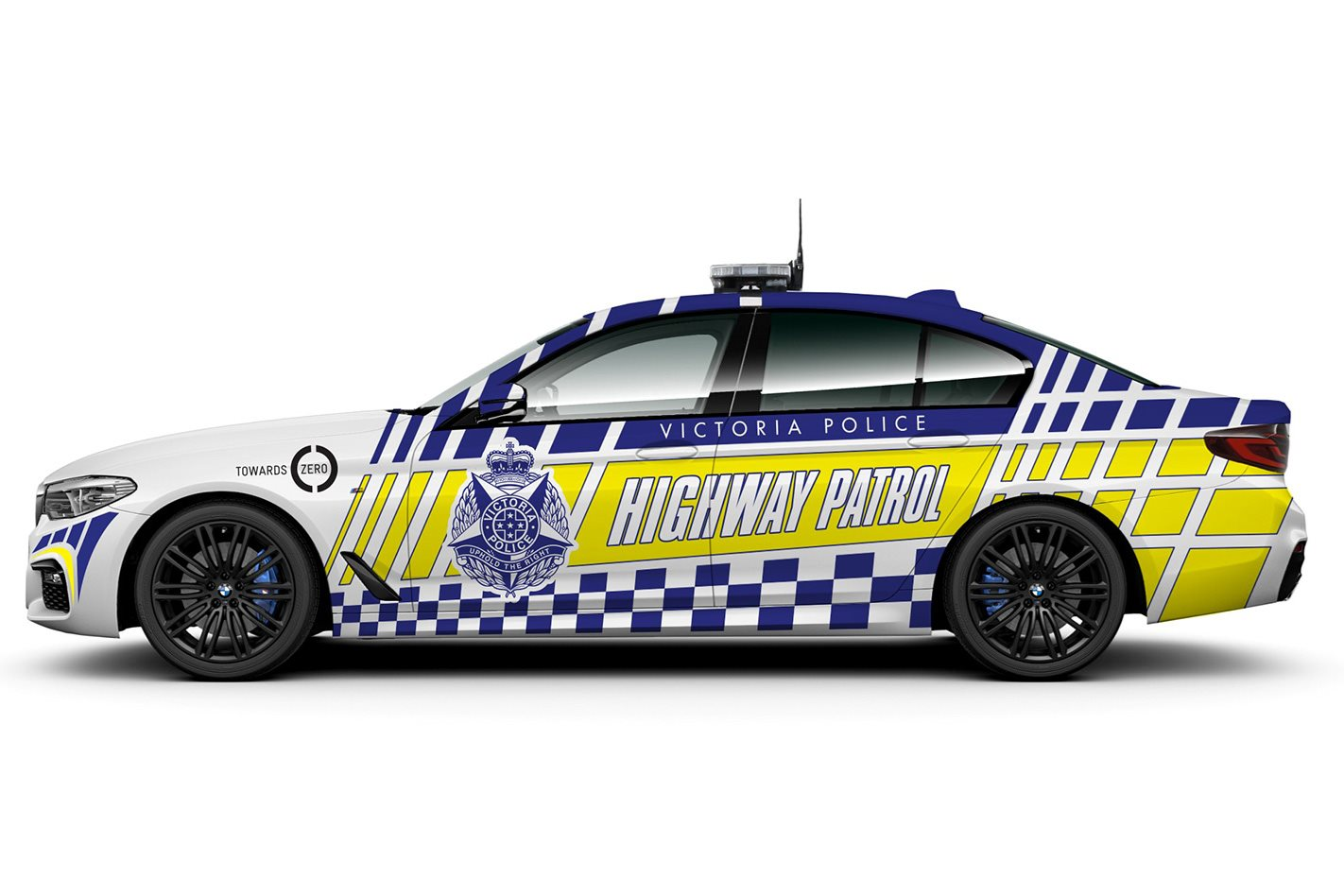 Victoria Police BMW 5 Series side