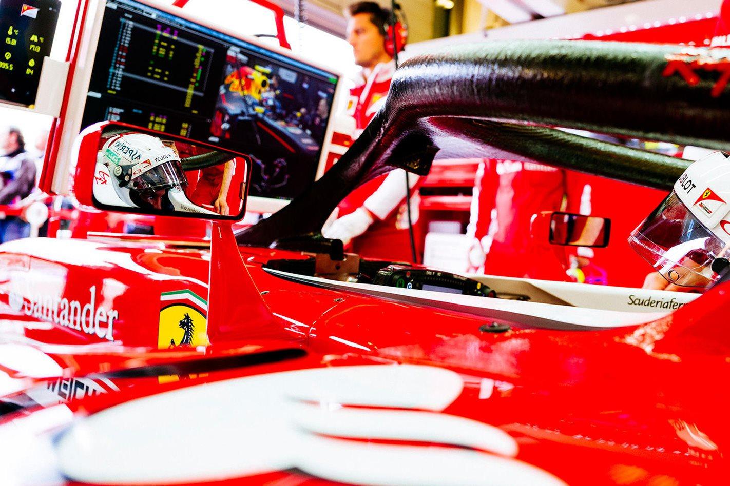 Ferrari's Sebastian Vettel The Halo