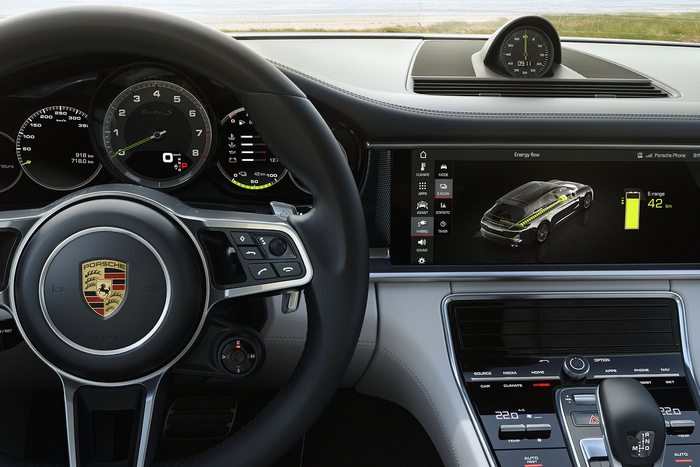 Porsche Turbo S E-Hybrid Sport wagon interior