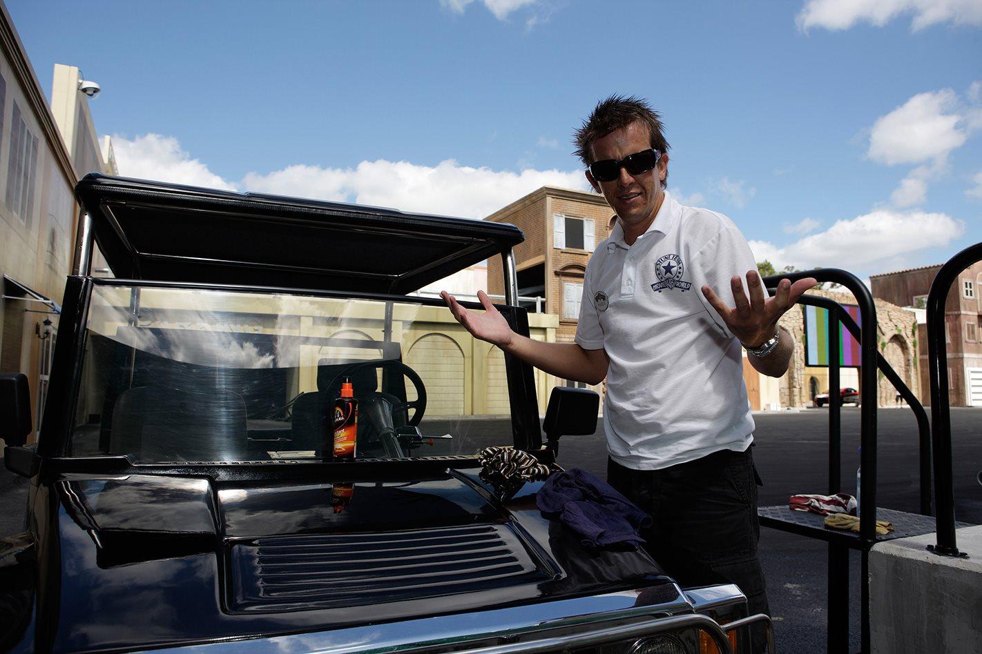 Warren Luff stunt driving