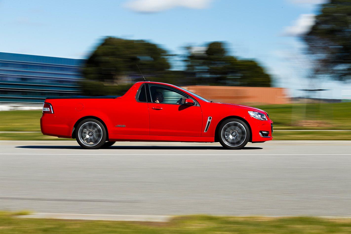 Holden SS-V Redline ute driving.jpg